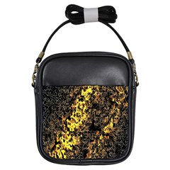 The Background Wallpaper Gold Girls Sling Bags