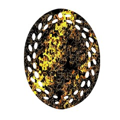 The Background Wallpaper Gold Oval Filigree Ornament (two Sides)