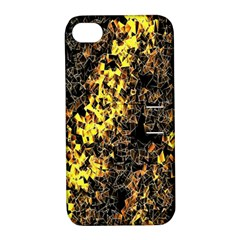 The Background Wallpaper Gold Apple Iphone 4/4s Hardshell Case With Stand