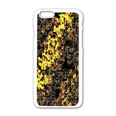 The Background Wallpaper Gold Apple Iphone 6/6s White Enamel Case
