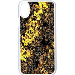 The Background Wallpaper Gold Apple Iphone X Seamless Case (white)