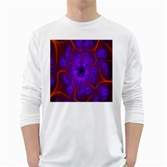 Fractal Mandelbrot Julia Lot White Long Sleeve T Shirts