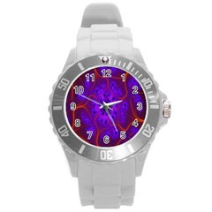 Fractal Mandelbrot Julia Lot Round Plastic Sport Watch (l)