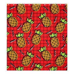 Fruit Pineapple Red Yellow Green Shower Curtain 66  X 72  (large)