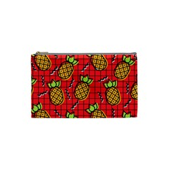 Fruit Pineapple Red Yellow Green Cosmetic Bag (small)  by Alisyart