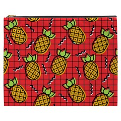 Fruit Pineapple Red Yellow Green Cosmetic Bag (xxxl)  by Alisyart