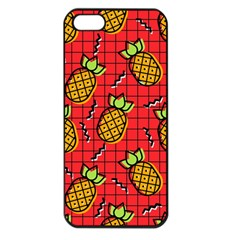 Fruit Pineapple Red Yellow Green Apple Iphone 5 Seamless Case (black) by Alisyart