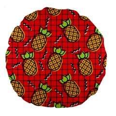Fruit Pineapple Red Yellow Green Large 18  Premium Round Cushions by Alisyart