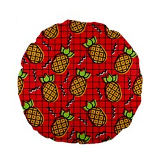 Fruit Pineapple Red Yellow Green Standard 15  Premium Flano Round Cushions by Alisyart