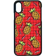Fruit Pineapple Red Yellow Green Apple Iphone X Seamless Case (black) by Alisyart