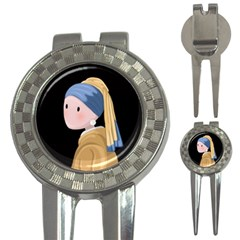 Girl With A Pearl Earring 3 In 1 Golf Divots by Valentinaart