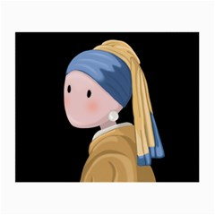 Girl With A Pearl Earring Small Glasses Cloth by Valentinaart