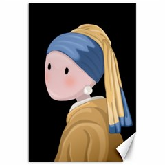 Girl With A Pearl Earring Canvas 20  X 30   by Valentinaart
