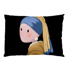 Girl With A Pearl Earring Pillow Case (two Sides) by Valentinaart