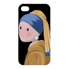 Girl With A Pearl Earring Apple Iphone 4/4s Premium Hardshell Case by Valentinaart