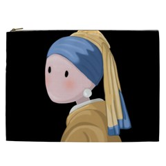 Girl With A Pearl Earring Cosmetic Bag (xxl)  by Valentinaart