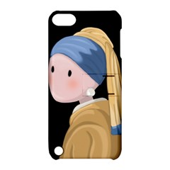 Girl With A Pearl Earring Apple Ipod Touch 5 Hardshell Case With Stand by Valentinaart