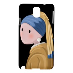 Girl With A Pearl Earring Samsung Galaxy Note 3 N9005 Hardshell Case by Valentinaart