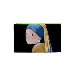 Girl With A Pearl Earring Cosmetic Bag (xs) by Valentinaart