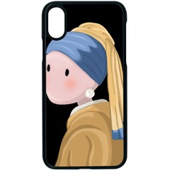 Girl With A Pearl Earring Apple Iphone X Seamless Case (black) by Valentinaart