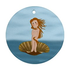 The Birth Of Venus Round Ornament (two Sides) by Valentinaart