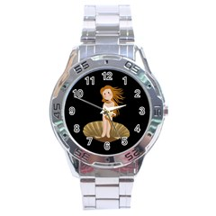The Birth Of Venus Stainless Steel Analogue Watch by Valentinaart