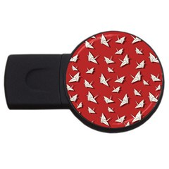 Paper Cranes Pattern Usb Flash Drive Round (2 Gb) by Valentinaart