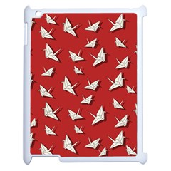 Paper Cranes Pattern Apple Ipad 2 Case (white) by Valentinaart