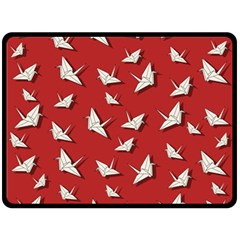 Paper Cranes Pattern Double Sided Fleece Blanket (large)