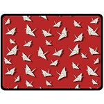 Paper cranes pattern Double Sided Fleece Blanket (Large)  80 x60 Blanket Back