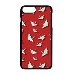 Paper Cranes Pattern Apple Iphone 8 Plus Seamless Case (black) by Valentinaart