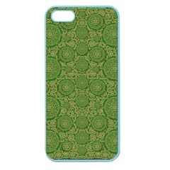 Stars In The Wooden Forest Night In Green Apple Seamless Iphone 5 Case (color) by pepitasart