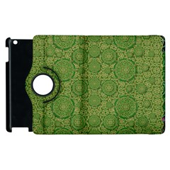 Stars In The Wooden Forest Night In Green Apple Ipad 2 Flip 360 Case by pepitasart