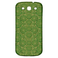 Stars In The Wooden Forest Night In Green Samsung Galaxy S3 S Iii Classic Hardshell Back Case by pepitasart