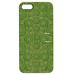 Stars In The Wooden Forest Night In Green Apple Iphone 5 Hardshell Case With Stand by pepitasart