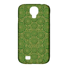 Stars In The Wooden Forest Night In Green Samsung Galaxy S4 Classic Hardshell Case (pc+silicone) by pepitasart