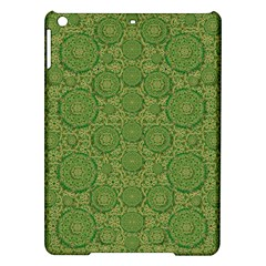 Stars In The Wooden Forest Night In Green Ipad Air Hardshell Cases by pepitasart