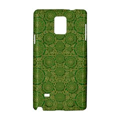 Stars In The Wooden Forest Night In Green Samsung Galaxy Note 4 Hardshell Case by pepitasart