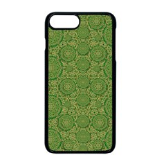 Stars In The Wooden Forest Night In Green Apple Iphone 8 Plus Seamless Case (black) by pepitasart