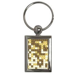 Autumn Leaves Pattern Key Chains (rectangle)  by linceazul