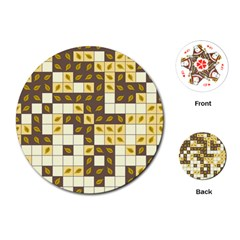 Autumn Leaves Pattern Playing Cards (round)  by linceazul