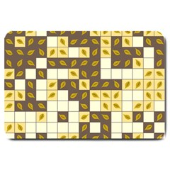 Autumn Leaves Pattern Large Doormat  by linceazul