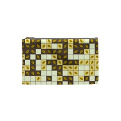 Autumn Leaves Pattern Cosmetic Bag (small)  by linceazul
