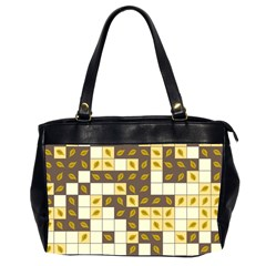 Autumn Leaves Pattern Office Handbags (2 Sides)  by linceazul