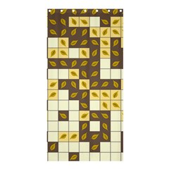 Autumn Leaves Pattern Shower Curtain 36  X 72  (stall)  by linceazul
