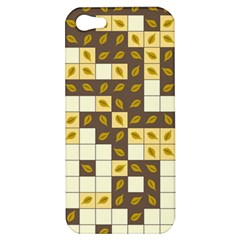 Autumn Leaves Pattern Apple Iphone 5 Hardshell Case by linceazul