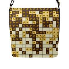 Autumn Leaves Pattern Flap Messenger Bag (l)  by linceazul