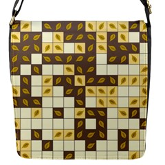 Autumn Leaves Pattern Flap Messenger Bag (s) by linceazul