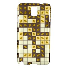 Autumn Leaves Pattern Samsung Galaxy Note 3 N9005 Hardshell Case by linceazul