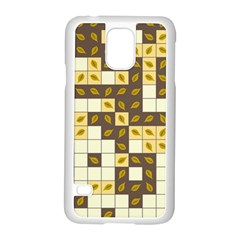 Autumn Leaves Pattern Samsung Galaxy S5 Case (white) by linceazul